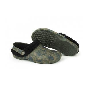 d3b768dd91 Sandále se zimní vložkou - Chunk Camo fleece clog vel. 7   41